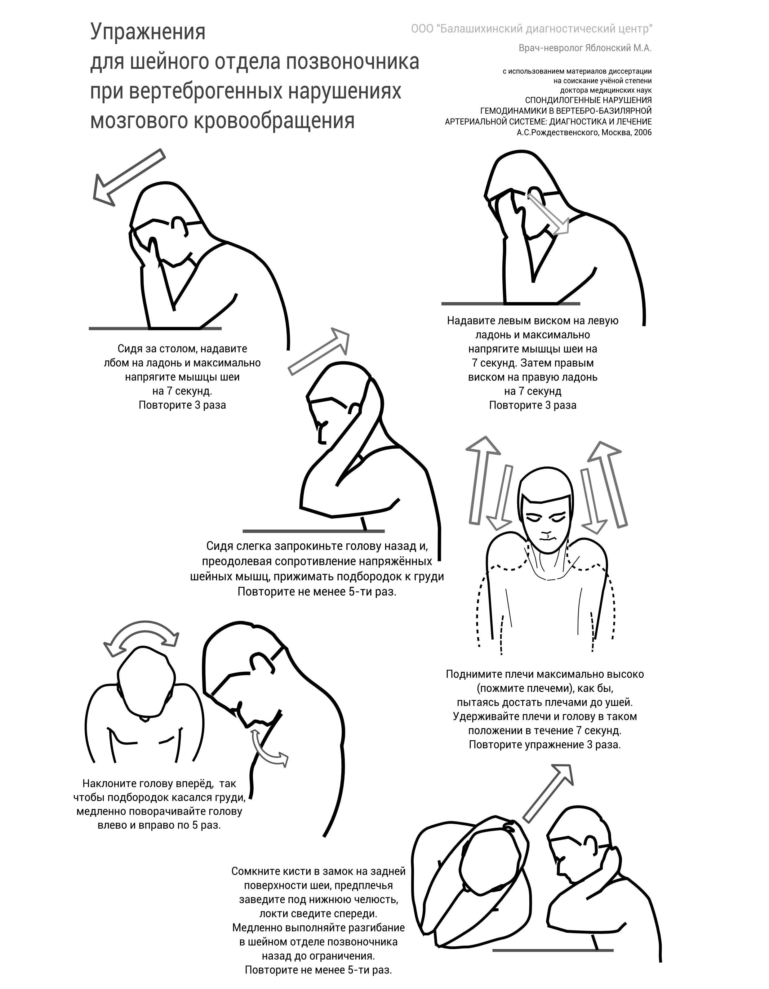 Упражнения при остеохондрозе шейном в картинках 18
